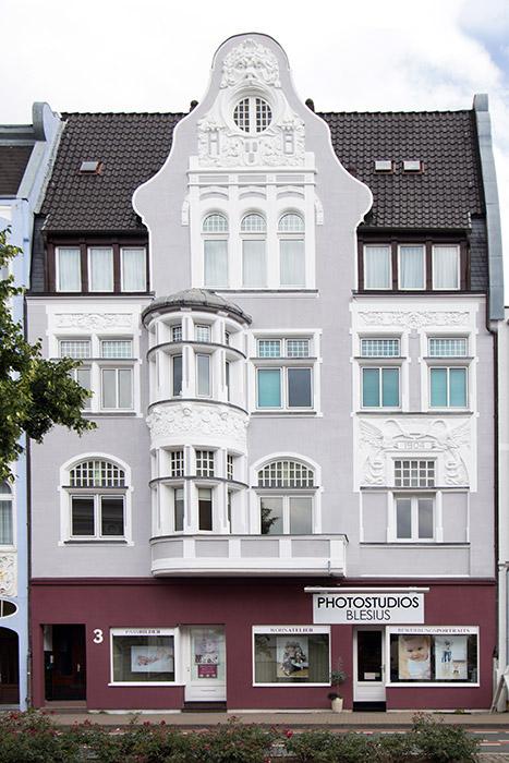 Die Außenansicht der Photostudios Blesius in Hameln