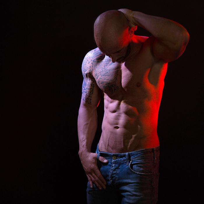 Mann, Muskeln, Fitness, Sixpack, trainiert