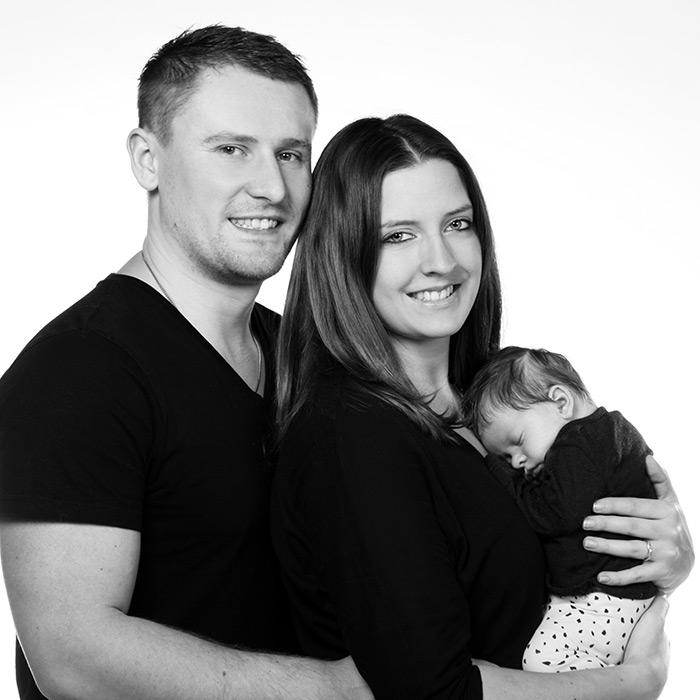 Familienfoto - Eltern und Baby